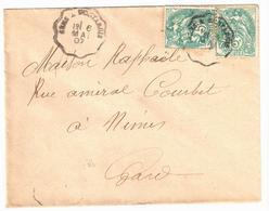 SENS à MONTARGIS Lettre Convoyeur Type 1 Ob 6/5/ 1907 5 C Blanc Yv 111 - Railway Post