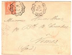 TREPORT - DIEPPE - ROUEN Lettre Convoyeur Type 2 Ob 18/7/ 1901 15 C Mouchon Yv 117 - Railway Post