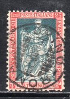 Rox 1928 Regno D'Italia Filiberto 25c  Usato - 1900-44 Victor Emmanuel III