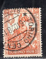 Rox 1928 Regno D'Italia Filiberto 50c  Usato - 1900-44 Victor Emmanuel III