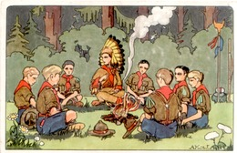 CPA THÈME SCOUTISME - Scouting