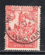 Rox 1928 Regno D'Italia Filiberto 75c  Usato - Oblitérés