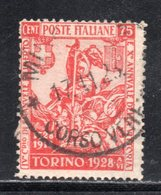 Rox 1928 Regno D'Italia Filiberto 75c  Usato - 1900-44 Vittorio Emanuele III