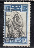 Rox 1928 Regno D'Italia Filiberto 1,25 Lire  Usato - 1900-44 Victor Emmanuel III