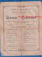 Invitation Ancienne - SAINT NAZAIRE - Grand Concert De L' Union MEAN PENHOET , Rue De L' Isle - 28 Novembre 1920 - Documents Historiques
