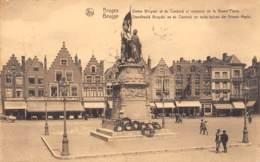 BRUGGE - Standbeeld Breydel En De Coninck En Oude Huizen Der Groote Markt - Brugge