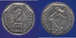 **** FDC 2 FRANCS 1994 ABEILLE SEMEUSE NEUVE SOUS BLISTER - COTE: 80 EUROS ***** EN ACHAT IMMEDIAT !!! - I. 2 Francs