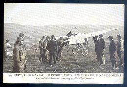 Cpa Départ De L' Aviateur Pégoud Pour Une Distribution De Bombes    DEC19-08 - 1914-1918: 1ère Guerre