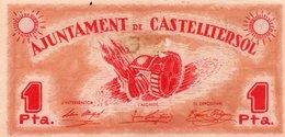 SPAIN= N/D   1  PESETA    P-    Aunc - [ 1] …-1931 : Prime Banconote (Banco De España)