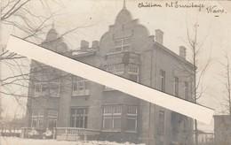 Wavre  , Chateau De L'Ermitage ,  Photocarte  Unique En 1916 Sous La Neige - Wavre