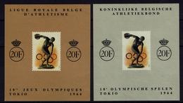 Belgien Belgie Belgium 1964 - Olympische Spielen 1964 Tokio - Erinnofilie OBP E90/91 - Sommer 1964: Tokio