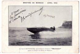 """6309 - Monaco - Meeting De Monaco ( Avril 1912 ) - Le Canot Motocratie Approvisionné D'essence """" Motricine """" - - Harbor"""
