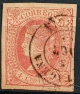 SPAIN 1864 - Canceled - Sc# 62 - 4c - Gebraucht