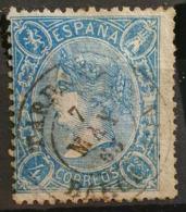 SPAIN 1865 - Canceled - Sc# 75 - 4c - Gebraucht