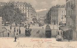 Souvenir De GENEVE , Switzerland , 1900 ; Rue Du Mont Blanc - GE Geneva
