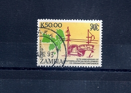 ZAMBIA - SADC - Coal Cable Way 1990 - Scott 514 SG 620 Fine Used - Zambia (1965-...)