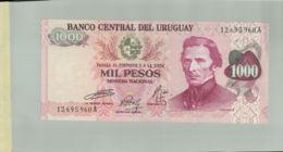 Billet De Banque  Banco Central Del Uruguay 1000 Pesos- DEC 2019 Gerar - Uruguay