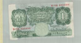 Billet De Banque  Billet De Banque Bank Of England 1 Pound    DEC 2019 Gerar - Maurice