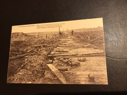 Zonnebeke - Westhoek - Weg Voor Het Bijbrengen Der Schietvoorraden - Chemin Pour Transport Des Munitions 1914-1918 - Zonnebeke