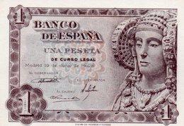 SPAIN= 1948    1  PESETA    P-135    UNC - [ 1] …-1931 : Prime Banconote (Banco De España)