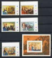 320b Tchad Yvert ** MNH N° 171 / 175 + Bloc 16 Karton Proof Bi Centenaire Indépendance Des Usa Non Dentelé (imperforate) - Unabhängigkeit USA