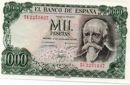 SPAIN= 1971    1000  PESETAS    P-154    UNC - [ 1] …-1931 : Premiers Billets (Banco De España)