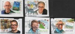 2019 AUSTRALIA - DIE-CUT - USED $1.00 LITERARY LEGENDS Complete Set Of 5 Stamps ( On Paper ) - Oblitérés