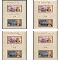 350b  Ajman MNH ** Les 4 Blocs BLOC N° 7 A/B 10 A/B  Winston Churchill  + Non Dentelé (imperforate) COTE 74  EUROS - Ajman