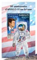 Djibouti 2019  F Apollo 11 Landing On The Moon  ,space  , John F. Kennedy   S201903 - Djibouti (1977-...)