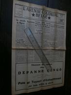 L'Avenir Colonial Belge 268 Du 25 Septembre 1953 : Congo, Peyrefitte, Otraco, - Journaux - Quotidiens