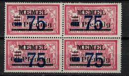 MEMEL       N°  YVERT  :    42 X 4       NEUF AVEC  CHARNIERES      (  CH  01/50 ) - Memel (1920-1924)