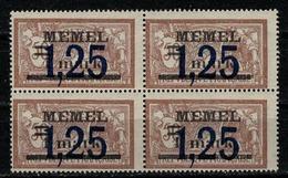 MEMEL       N°  YVERT  :    43 X 4       NEUF AVEC  CHARNIERES      (  CH  01/50 ) - Memel (1920-1924)