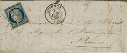 1852- Lettre D'AVIGNON ( Vaucluse ) Cad T15 Affr. N°4 Oblit. Pc 209 ( Au Filet Angle Supérieur Gauche ) - 1849-1876: Classic Period