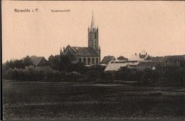 ! Alte Ansichtskarte Bärwalde In Pommern, Kirche, 1918 - Pommern