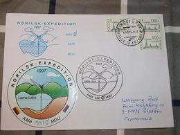 Arctique ExpéditionNORILSk Lac Lama  1997 Coopération Russo-allemande - Polar Philately