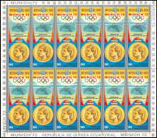 646 Guinée équatoriale Ecuatorial Guinea MNH ** Jeux Olympique Olympic Munich Korbut Urss Gymnastic Feuilles (sheets) - Verano 1972: Munich