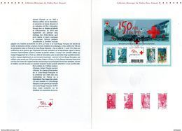 """"""" 150 ANS DE LA CROIX-ROUGE """"  Sur Document Philatélique Officiel De 4 Pages De 2014. N°YT F4910 - Unclassified"""
