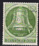 Berlin Poste Obl Yv: 69 Mi 83 Yv:5 Euro Freiheitsglocke Berlin Marteau à Droite (Belle Obl.mécanique) - Gebraucht