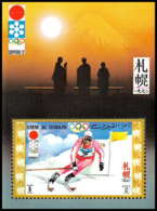 663 - Umm Al Qiwain MNH ** Mi Bloc N° 30 Ski Slalom Jeux Olympiques (olympic Games) Sapporo 72 - Winter 1972: Sapporo
