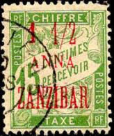 Zanzibar Taxe Obl Yv:3 Mi:3 Banderolle De Duval (TB Cachet Rond) - Zanzibar (1894-1904)