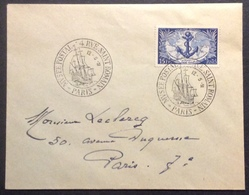 04-1 Troupes Coloniales 889 Musée Postal Paris 12/5/1951 FDC Premier Jour Lettre Enveloppe - FDC