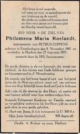 Erembodegem, Haaltert, 1935, Philomena Roelandt, Coppens - Devotieprenten