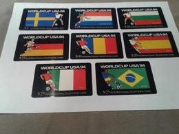 8 Superb Phonecards World Cup 94 - Télécartes