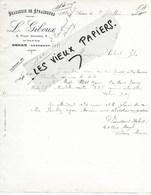 08 - Ardennes - SEDAN - Facture GIBOUX - Brasserie De Strasbourg - 1914 - REF 129A - France