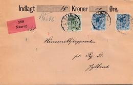 Dänemark: 1920: Wertbrief Naarup Nach Ry - Dänemark