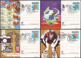 Spain - 1982 - Football World Cup 1982 - Stationery Cards - Fußball-Weltmeisterschaft