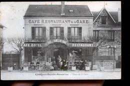 CONFLANS SAINTE HONORINE PLACE DE LA GARE LE CAFE - Conflans Saint Honorine