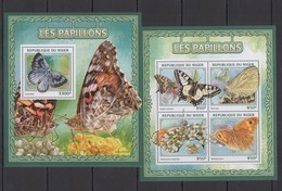 ST1894 2016 NIGER FLORA & FAUNA BUTTERFLIES LES PAPILLONS KB+BL MNH - Butterflies