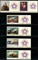 AW2715 Romania 1976 American War Of Independence Painting 6V Ticket MNH - Otros