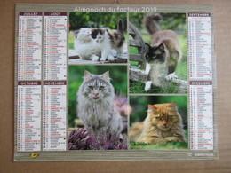 Almanach Du Facteur 2019 / Calendrier La Poste /  Chats - Calendars